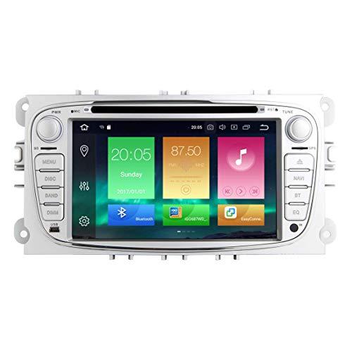 JIBO 7' Android 8.0 Doble Estruendo Auto Radio GPS Navegación Cabeza Unidad por Ford Kuga 2008-2012 Estéreo Multimedia Jugador Nav Sat WiFi SWC USB Bluetooth Audio Receptor