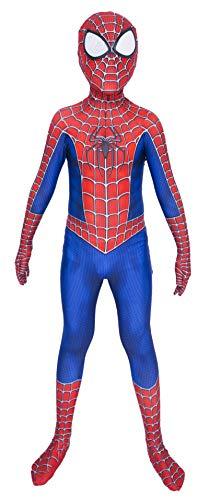 Lotusuncostume Kids Superhero Suits Halloween Cosplay Costumes 3D Style Blue X-Small