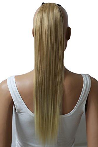 PRETTYSHOP 60cm Haarteil Zopf Pferdeschwanz Haarverlängerung Glatt Hellblond Mix HC5a