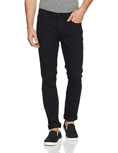 Lee Men's Skinny Fit Jeans (L30432248147034033_Rinsed Jet Black)