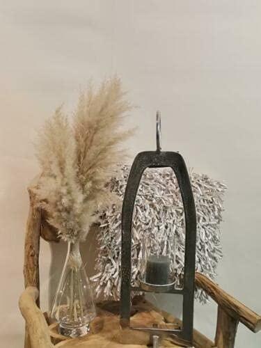 Colmore Windlichtlaterne/Glaseinsatz Kerzenhalter Windlicht Deko Alu Silber Modern Größe 72x22x21 cm