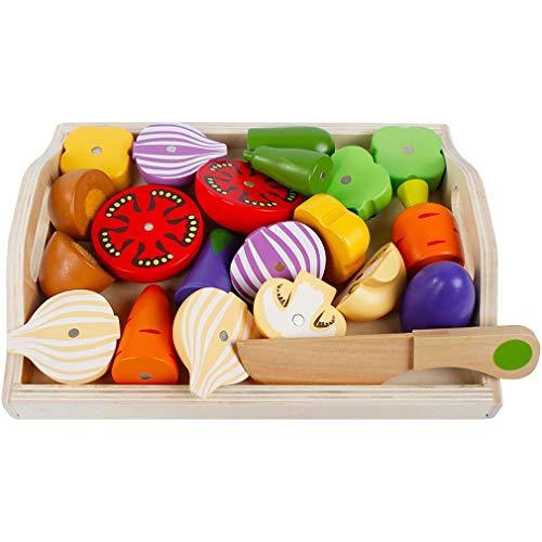 Kitechildhssd Cubiertos magnéticos para niños Los Juguetes de Cocina Cortan la combinación de Frutas y Verduras