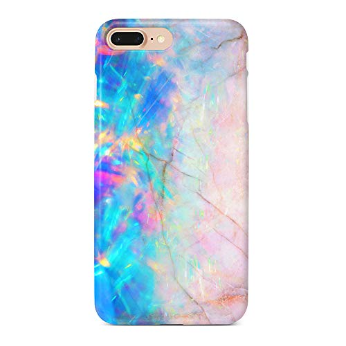 uCOLOR Case Compatible iPhone 8 Plus/7 Plus 6s Plus/6 Plus Cute Case Pink and Blue Opal Crystal Marble Soft TPU Silicone Shockproof Cover Compatible iPhone 8 Plus/7 Plus/6S Plus/6 Plus(5.5