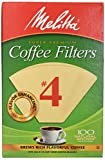 Melitta #4 Cone Coffee Filters, Natural Brown #4, 100 Count (Pack Of 6), 600