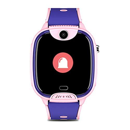 Kinder intelligente Uhren für Jungen Kinder intelligente Uhr Kinderkameras Telefon Smart Uhren WiFi Videotelefon wasserdichte Positionierung Multifunktionsuhr, geeignet für Kinder,Rosa