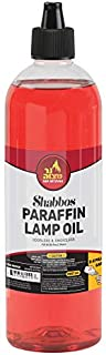Paraffin Lamp Oil - Red Smokeless, Odorless, Clean Burning Fuel for Indoor and Outdoor Use with E-Z Fill Cap and Pouring Spout - 32oz - by Ner Mitzvah