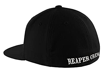 SOA Sons of Anarchy Reaper Crew Fitted Baseball Cap Hat  Adult Small/Medium  Black