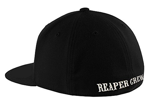 SOA Sons of Anarchy Reaper Crew Fitted Baseball Cap Hat (Large/X-Large)
