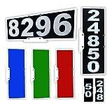 911 Mailbox Plaque, Vertical or Horizontal Mounting, Large Reflective Number Set, Mounting Bracket & Hardware...