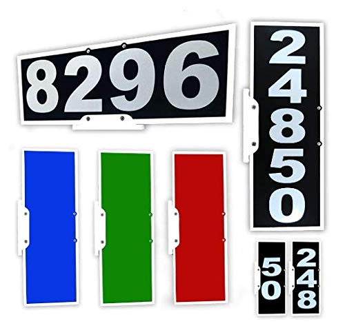 911 Mailbox Plaque, Vertical or Horizontal Mounting, Large Reflective Number Set, Mounting Bracket & Hardware Included (Black)