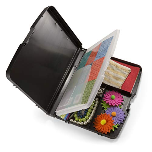 Officemate Triple File Clipboard Storage Box, Recycled, Black (83610) Photo #3