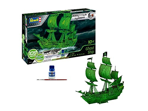 Revell 05435 - Nave fantasma con luce notturna, nave pirata, modello con sistema Easy Click