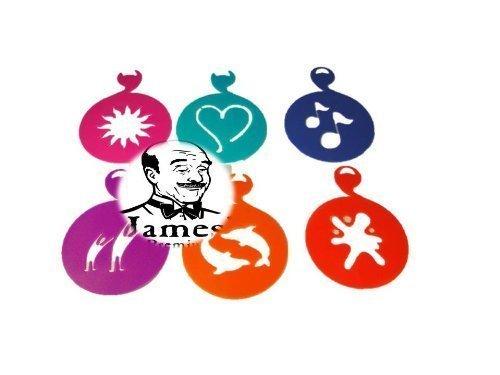 Cappuccino-Schablonen ø 9.0 cm, 6 Motive von James Premium®
