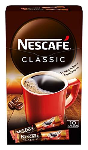NESCAFÉ Classic Sticks, löslicher Bohnenkaffee, 1er Pack (á 10 x 2g)