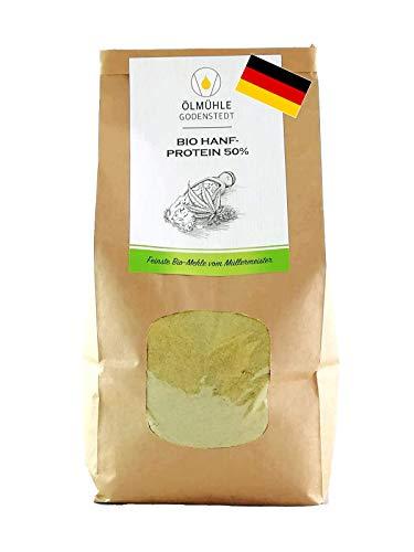 Bio Hanfprotein Pulver 50% Eiweiß 1000g Sparpaket aus deutscher Bio Hanfsaat