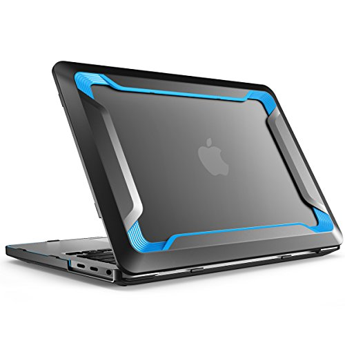 i-Blason Designed for MacBook Pro 15 Case 2019 2018 2017 2016 Release A1990/A1707, [Heavy Duty] Slim Rubberized Cover with TPU Bumper for Apple Macbook Pro 15' with Touch Bar and Touch ID (Blue)