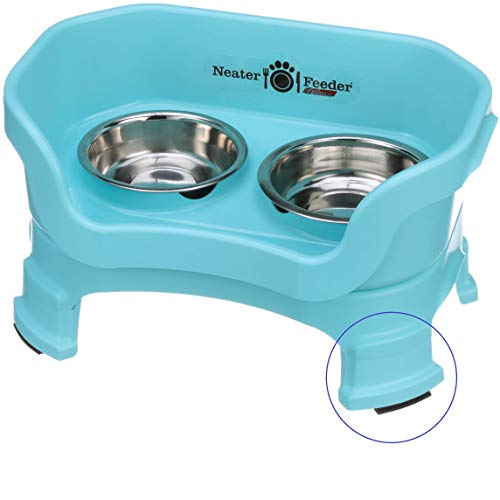 Neater Feeder Deluxe with Leg Extensions (Small, Aquamarine)