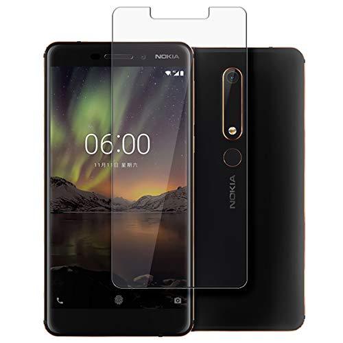 disGuard Schutzfolie für Nokia 6 (2018) [2 Stück] Entspiegelnde Bildschirmschutzfolie, MATT, Glasfolie, Panzerglas-Folie, Bildschirmschutz, Hoher Festigkeitgrad, Glasschutz, Anti-Reflex