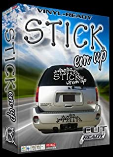 Stick Em Up EPS Vector Clipart Vinyl Cutter Slgn Design Artwork-EPS Vector Art Software plotter Clip Art Images
