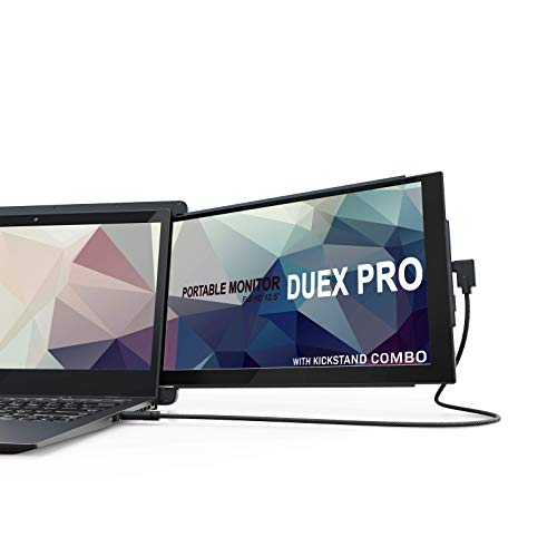 Portable Monitor -Duex Pro Upgraded 2.0 with Kickstand Combo, 12.5 Inch Full HD IPS Screen for...
