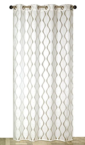 Atout Ciel Rideau, Polyester, Blanc, 140x240x3 cm
