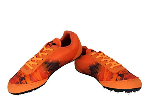 Nivia Zion-1 Men's Running Spike Shoes Orange