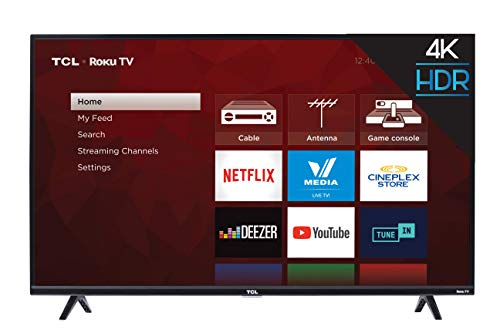 TCL 43S425-CA 4K Ultra HD Smart LED Television (2019), 43'