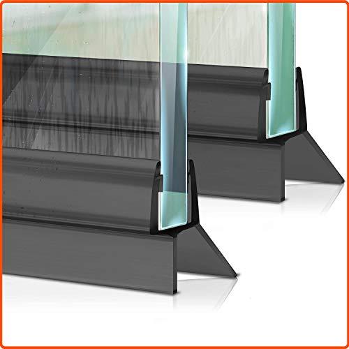 Meisterfaktur Duschdichtung [2x] - Erstmalig in schwarz - Ideale Dichtung für 6,7,8mm Glastüren in Duschen