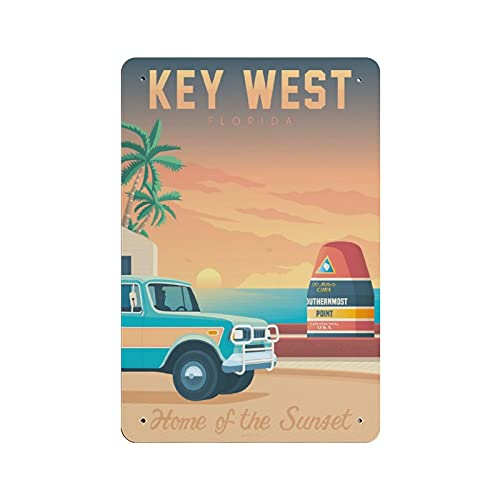 Key West Retro dipinto di ferro personalizzato illustrazione arte avvertimento segno di stoccaggio camera bar parete Decor