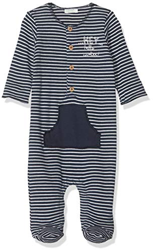 United Colors of Benetton Layette BB B2 Mono Corto, Multicolor (Righe Bianco/BLU 903), 50 (Talla del Fabricante: 50) para Bebés