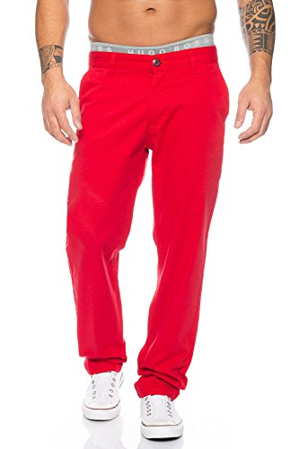 Rock Creek Herren Chino Hose Herrenhose RC-2083 [Rot W34 L34]