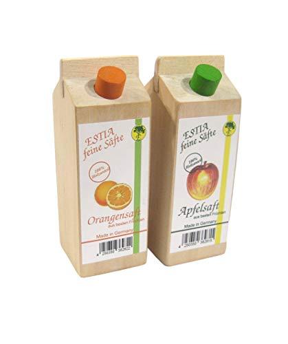 Orangensaft und Apfelsaft,Getränkepack, Kaufladenzubehör