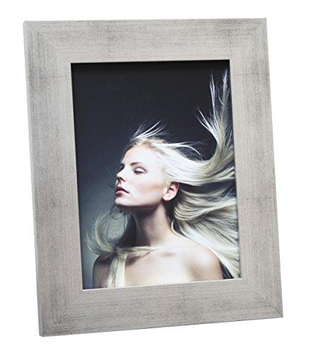 Deknudt Frames S43BD1 Bilderrahmen 28x35 Holzrahmen, Silberfarbe 4.4cm breit Holz Fotokader