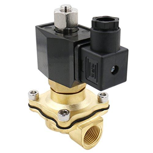 Heschen - Elettrovalvola a solenoide in ottone 2WK160-15 PT 1/2 AC 220 V ad azione diretta acqua aria gas normalmente aperto