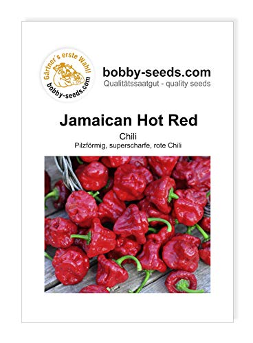 Jamaican Hot Red Chilisamen Ultrascharf von Bobby-Seeds, Portion