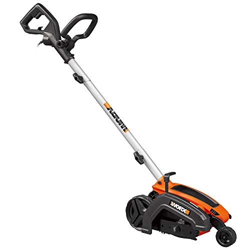 "WORX WG896 12 Amp 7.5"" Electric Lawn Edger & Trencher, Orange and Black"