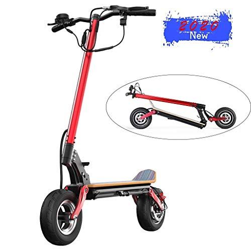 E-Scooter mit Straßenzulassung, LCD-Display, 500 W Motor, 48V Batterie, 45 km Reichweite, 10 Zoll Reifen, Stoßgedämpft, 100kg Tragkraft, Klappbar