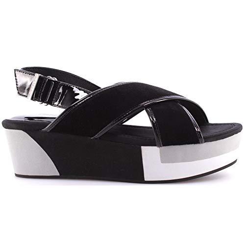 Scarpe Sandalo Zeppa Donna Liu Jo Shoes Sandals Wedge Myriam Black Nero Nuove