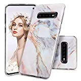Imikoko Galaxy S10 Plus Case, S10+ Case Matte Marble Design