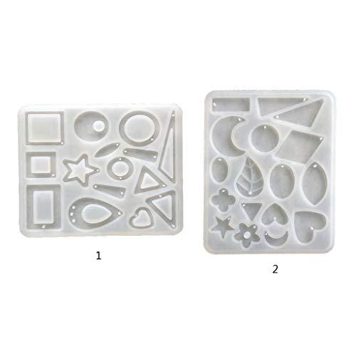 KunmniZ DIY Crafts - Molde de resina epoxi de cristal para manualidades