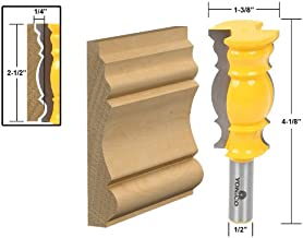 Yonico 16147 2-1/2-Inch Crown Molding Router Bit 1/2-Inch Shank