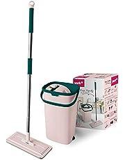 York Prestige mopp platt uttryckt med hinkar mobiltelefon från York, PP, rosagrön, standard