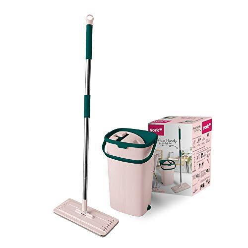 York Prestige Mopp flach ausgedrückt mit Eimer Handy von York, PP, rosa-grün, Standard