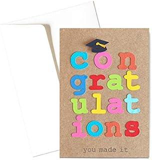 Congratulations - Laurea - congratulazioni - biglietto d'auguri (formato 10,5 x 15 cm) - vuoto all'interno, ideale per il ...