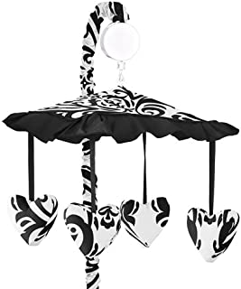Sweet Jojo Designs Black and White Isabella Musical Baby Crib Mobile