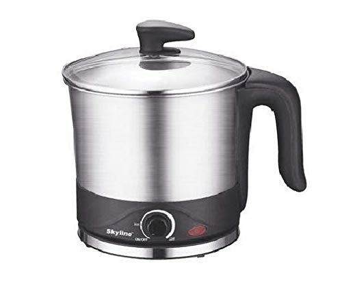 Skyline Stainless Steel Electric Kettle VT 7070 (Black and Silver)