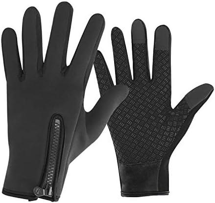PURFUN Adutls Teens Winter Ski Gloves Rainproof Anti Slip Motorcycle Road Bicycle Mittens Warm product image