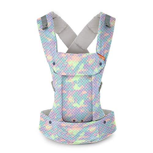 Portabebés Beco Gemini - Portabebés Simple y Estilizado Ajustable en todas las posiciones para bebés infantes y niños de 7 a 35 libras con ergonomía certificada (Mermaid Sorbet)