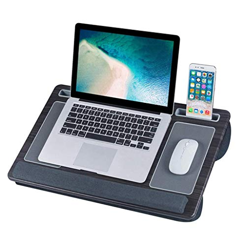 LYLSXY Tables,Portable Lap Laptop Desk, Portable Laptop Desk Tray with Cushion Mouse Pad and Wrist Rest Right Left Handed Design Fits up to Laptop Tablet Work from Home