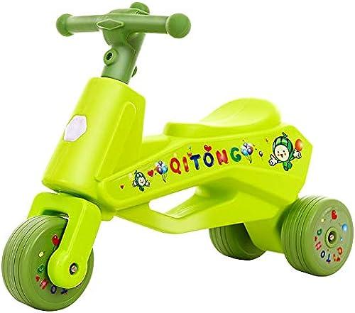 CHEERALL 3 R r Baby Walker Balance fürrad Baby Learning Walking Bike Kein Fu dal Outdoor Indoor Drive Lernspielzeug für 1-3 Jahre alt , Geburtstagsgeschenk,Grün